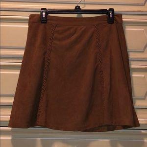 Tan Suede Skirt